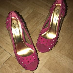 Pink Stud Pumps